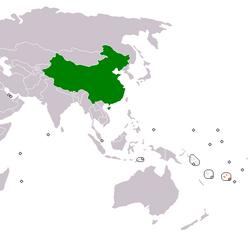 PRC和斐济在世界的位置