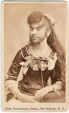 Photo of Annie Jones, a bearded lady