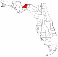佛罗里达州莱昂县地图