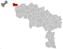 Mouscron Hainaut Belgium Map.png