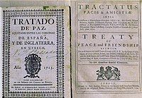 First edition of the Treaty of Utrecht