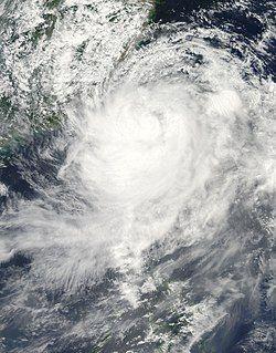 台风莫拉克卫星图像