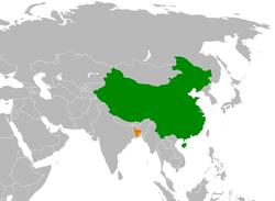 China和Bangladesh在世界的位置