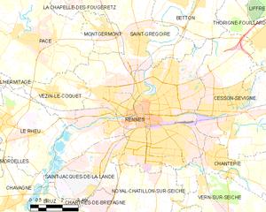 雷恩市镇地图