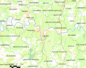 卡奥尔城区地图