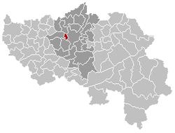 Saint-Nicolas Liège Belgium Map.png
