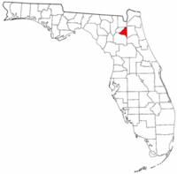 佛罗里达州布拉福县地图