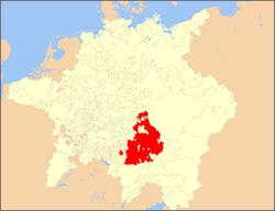 巴伐利亚选侯国在神圣罗马帝国中的位置(1648年)