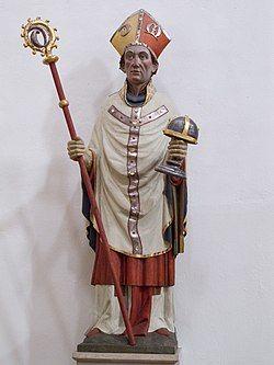 Hildesheim St. Godehard Statue Godehard.JPG