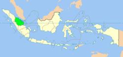 廖内省位于印度尼西亚的位置