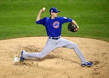 Kyle Hendricks first inning Game 7 2016 World Series.jpg