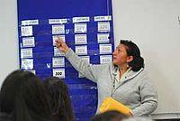 Instructor teaching the Yurok Language.jpg