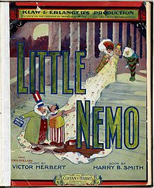 Little Nemo characters ascending a staircase