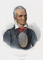 Portrait of Seneca Chief Sagoyewatha, Washington's peace emissary