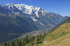 The Chamonix valley seen from la Flégère