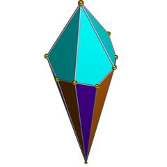 半偏方面体锥