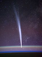 Comet Lovejoy seen from orbit