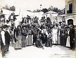 """""""Bedouin Wedding Procession"""" in the Jerusalem section of the Pike at the 1904 World's Fair.jpg"""
