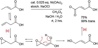 使用碱式氧化镍对3-丁烯酸进行氧化