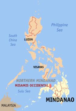西米萨米斯在菲律宾上的位置