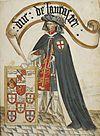 Portrait of Henry, Duke of Lancaster - William Bruges's Garter Book (c.1440-1450), f.8 - BL Stowe MS 594 (cropped).jpg