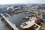 Aquarium + Giant wheel + Fuji Icebreaker - view from the lighthouse - Nagoya Port - Japan (15676490678).jpg