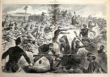 Engraving of chaotic battle scene