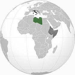 1941年的意属利比亚 ::::  意属利比亚 ::::  意大利控制的领土 ::::  意大利王国