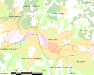 佩里格市镇地图