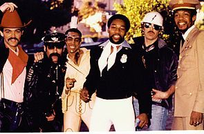 Village People in 1978. From left: Randy Jones, Glenn Hughes, Felipe Rose, Victor Willis, David Hodo, Alex Briley