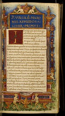 Cristoforo Majorana - Leaf from Eclogues, Georgics and Aeneid - Walters W40055R - Open Obverse.jpg