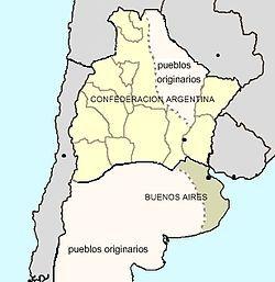 立宪的阿根廷邦联及独立的布宜诺斯艾利斯国, 1858.