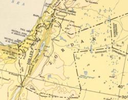 Contemporary map, 1955