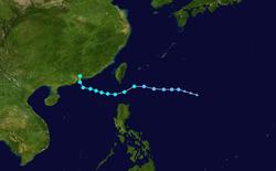 热带风暴圆规的路径图