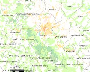 盖雷市镇地图