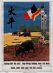 Thống-Chế đã nói – Đại-Pháp khắng khít với thái bình, như dân quê với đất ruộng [Thống-Chế said: Dai-France clings to peace, like peasants with lands]