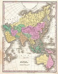 1827 Finley Map of Asia and Australia - Geographicus - Asia-finley-1827.jpg