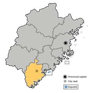 图中高亮显示的是漳州市