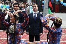 Dmitry Medvedev in Turkmenistan December 2009-1.jpg