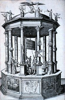 """Frontispiece of the """"Rudolphine Tables"""" published by Johannes Kepler in 1627"""