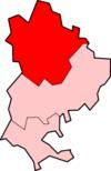 贝德福德区在贝德福德郡的位置