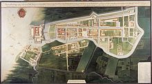 aerial map from around 1627