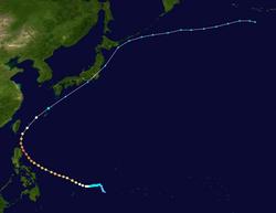 超强台风红霞的路径图