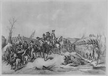 Hessian troops surrender after Battle of Trenton, December 1776