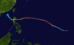 超强台风玉兔的路径图
