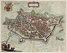 Plan of Cambrai drawn in 1649