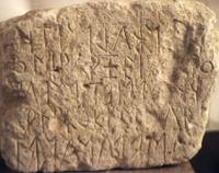 photograph of the earliest Eteocretan inscription from Praisos