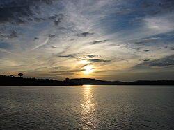 Sunset on the Victoria lake.JPG