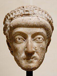 White head statue