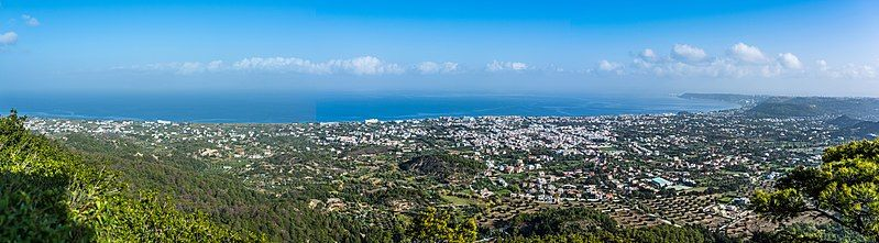 Panorama over Rhodos 2017